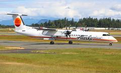 N421QX Horizon Air Bombardier Q400 (2)@YYJ 08Jun19 (Spotter Brandon) Tags: n421qx horizon horizonair alaska alaskaair bombardier q400 dh8d dehavillandcanada retrolivery yyj cyyj victoria