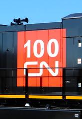 CN 3235, 100 Logo, Blair, Neenah, 8 Jun 19 (kkaf) Tags: neenah blair cn cn100yearlogo u757 et44ac