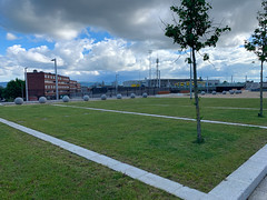 ONGOING DEVELOPMENT AND RENEWAL AT BROADSTONE [NEAR THE LUAS TRAM STOP]-152975 (infomatique) Tags: red broadstone luas tramstop publictransport streetphotography streetsofdublin williammurphy infomatique fotonique apple iphone xr areasofdublin urbanrenewal