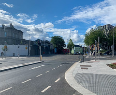 ONGOING DEVELOPMENT AND RENEWAL AT BROADSTONE [NEAR THE LUAS TRAM STOP]-152939 (infomatique) Tags: red broadstone luas tramstop publictransport streetphotography streetsofdublin williammurphy infomatique fotonique apple iphone xr areasofdublin urbanrenewal