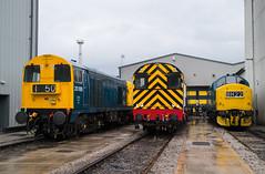 20189, 08762 & 37190 - All Change - Crewe LSL Depot - 08.06.2019 (Tom Watson 70013) Tags: crewe all change lsl locomotive services diesel br blue class20 class08 class37 20189 08762 37190