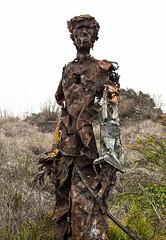 Proud, rusting man (edwinsail) Tags: metalsculpture junksculpture albanybulb canon5dmk2