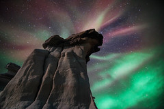 Hoodoo with corona- composite of two shots (Christy Turner Photography) Tags: northernlights auroraborealis auroral