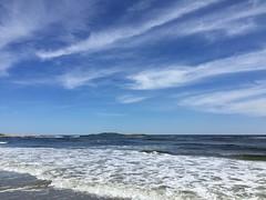 The Light Celebrates (no. 1) (77ahavah77) Tags: ocean blue sea sky beach nature landscape outside surf maine clouds popham