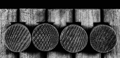 Lincoln Logs (KellarW) Tags: wood rail toys linked macromondays monotone textures childhoodtoy woodentoy toy monochrome railsplitter lincolnlogs logcabin childhoodtoys bw cabin childrenstoy blackwhite childhood