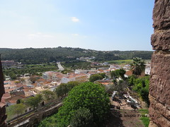 View of the City of Silves (Gerald (Wayne) Prout) Tags: cityofsilves castleofsilves municipalityofsilves portuguese algarve southern portugal prout geraldwayneprout canon canonpowershotsx60hs powershot sx60 hs digital camera photographed photography buildings building structure architecture castle fort municipality landscape scenery scenic hills faro