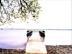 Quiet solitude (SusanLynn<images>) Tags: nature pier lakeontario longexposures landscapephotography lakeviews bathontario ygk finkleshorepark latespring june2019