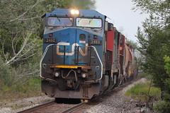 The Devil Returns (DonnieMarcos) Tags: railroad railway railfanning rail railfan rails railroads trains train trainspotting traintrack traintracks chicago chicagoarea chicagoland chicagorails chicagolandrails ge generalelectric cn cnr cnrr canadiannational canadianational dash8 gedash8 dash840cw bluedevil cnbluedevil icbluedevil devil blue ic ic2460 illinoiscentral cnfreeportsub cnm337 m33791 m337 cnm33791 c408w
