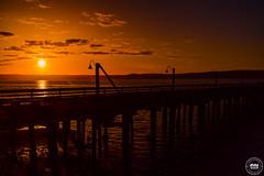 Historic Port of Coupeville Sunset - Washington E*x*p*l*o*r*e*d (SonjaPetersonPh♡tography) Tags: whidbeyisland island washington washingtonstate stateofwashington nikon afsdxnikkor18300mmf3563gedvr historicbuildings town waterfront portofcoupeville penncove sunset coupevillepier silhouettes crimsonsky pier wharf historicwaterfront