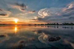 Bleyen-Genschmar,Brandenburg (karstenlützen) Tags: germany brandenburg oderland oderbruch longexposure sunset waterfront riverside