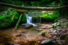 Upper, Upper Dark Hollow Falls (John Brighenti) Tags: shenandoah nationalpark waterfall falls stream creek rocks moss logs green stones longexposure sonyalpha a7rii ilce7rm2 tamron nex ilce emount femount bealpha sonyshooter virginia nature outdors outside optoutside hiking landscape sel28f20 28mm