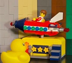 Duck 128 of 365 (don_espe) Tags: 365 365day duck duckie ducky lego legos ride rocket rubberduck rubberducky spaceship