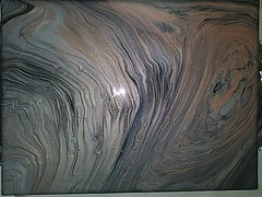 pour painting 10 wet (Morgane Batista) Tags: metallic paint painting pour pouring fluid black silver rose gold white pearl acrylic canvas podge glossy wet gesso
