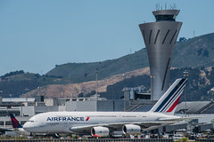 air france arrives in the heat wave (pbo31) Tags: bayarea california nikon d810 color june 2019 julie boury pbo31 spring sanmateocounty sanfranciscointernational sfo airport airline travel plane aviation burlingame