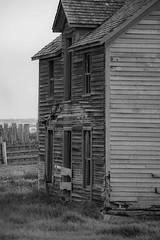 Abandoned B&W (D.Spence Photography) Tags: green old abandoned relic history farming rural