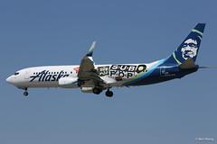 "Alaska 737-800 N587AS ""Sub Pop"" (bswang) Tags: asa b738 n587as sjc"