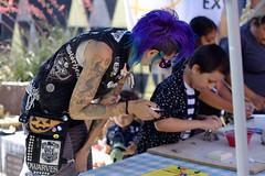 DSCF7088 (ernestoregaldo) Tags: hair purple tattoos patches vest punk fashion xe2 canonfd 50mm velvia harleyquinn