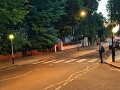 A Nearly-Vacant Abbey Road Zebra Crossing. (Fotofricassee) Tags: beatles abbey road dusk zebra crossing studio st johns wood hankyou mac