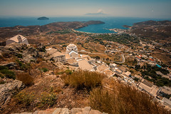 On a clear day.... (Dafydd Penguin) Tags: view hill top chora serifos harbour harbor port island greece cyclades leica m10 voigtlander 15mm super wide heliar f45