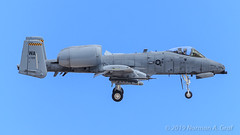 Fairchild Republic A-10C Thunderbolt II of the 66th Weapons Squadron from Nellis AFB (Norman Graf) Tags: ordnance nellisafb aircraft p5ctstcts airplane agm65maverick litening usaf agm 66wps aircombatmaneuverinstrument missile fairchildrepublic targetingpod a10 a10c 780709 66thweaponssquadron acmi anaaq28 asm airtogroundmissile airtosurfacemissile cas closeairsupport combattrainingsystem jet plane tacticalcombattrainingsystem thunderboltii unitedstatesairforce wa warthog