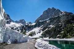 Sonnenspitze und Seebensee mit Schneewand (stefangruber82) Tags: alps alpen tirol tyrol snow schnee spring frühling gebirgssee see lake mountainlake mountains berge