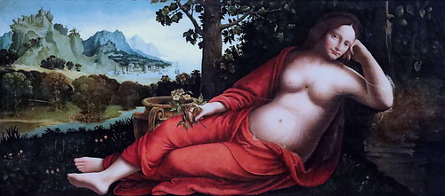 IMG_0644 Francesco Melzi 1493-1570 Milan Rhea Silvia vers 1535 Bonnefantenmuseum.  Maastricht.  Vestale mère de Romulus et Remus,  qu'elle aurait eu avec le  Dieu Mars  Vestal mother of Romulus and Remus, whom she would have had with the God Mars