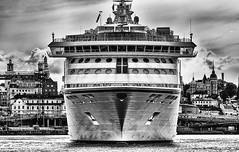 Port (Pawel Wietecha) Tags: stockholm cruise port sweden blackandwhite bw mono monochrome blanc weis schwarz noir black white blackwhite blanche negra blanco negro enblancoynegro architecture modern city cityscape landscape travel trip urbanscape old town sea water outdoor cruiser boat