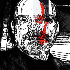 nic (j.p.yef) Tags: peterfey jpyef yef people portrait nicemonochromeplusred selectivecolor bw digitalart photomanipulation square