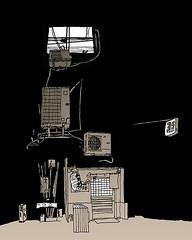 """Japanese Style Dining and Bar"" Next to our Hotel. Tokyo. April 2019 (stevefaradaysketches) Tags: tokyo japan bar restaurant nightscene street urbansketch urbansketchers usk inkdrawing illustration onlocation fineliner penandinksketch"