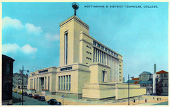 Nottingham and District - Technical College (pepandtim) Tags: postcard old early nostalgia nostalgic nottingham district technical college newcolour series dennis sons london scarborough printed great britain trent university 37nad42 grade newton building business school government design 1843 1945 1958 regional technology 1959 education clifton 1964 1966 polytechnic status 1970 1975 1992 2017 2019 cecil howitt 1952 1956 modernist