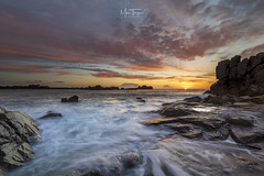 Grande Rocques sunset. (miketonge) Tags: guernsey channelislands granderocques portsoif sunset dusk rocks waves sea nisi s5 nikon d850 1424 miketongephotographycouk