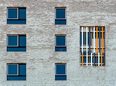 3 + 3 + 1 (jefvandenhoute) Tags: belgium belgië antwerp antwerpen nieuwzuid light shapes wall windows colors