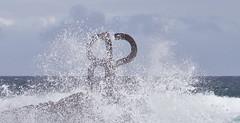"""Windkämme / """"Wind crest"""" # 8 (schreibtnix on'n off) Tags: reisen travelling europa europe spanien spain baskenland basqueregion küste coast atlantik atlantic brandung surf kunst art skulpturen sculptures eduardochillida peinedelviento windkämme windcrest olympuse5 schreibtnix"""