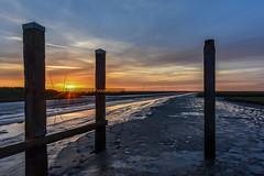 Sunset at the Wadden Sea (powerfocusfotografie) Tags: sunset dusk sun backlight noordpolderzijl groningen holland henk nikon powerfocusfotografie