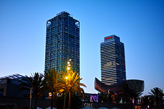 The fish and the towers (Fnikos) Tags: sky cielo tower towers torre torres pez peix fish pescado tree light lights dark darkness shadow shadows architecture building design decoration palmtree nature night nightview nightshot outside outdoor