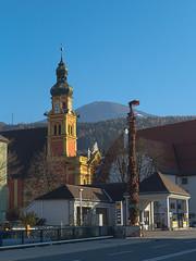 Innsbruck-2018_17 (rhomboederrippel) Tags: rhomboederrippel fujifilm xe1 november 2018 europe austria tyrolia innsbruck alps sunny cloudless wilten stilft monastery blue