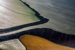 from the air abstract painting (MiguelVP) Tags: water channel canals fields aereal