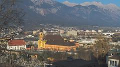 Innsbruck-2018_20 (rhomboederrippel) Tags: rhomboederrippel fujifilm xe1 november 2018 europe austria tyrolia innsbruck alps sunny cloudless wilten stilft monastery panorama nordkette bergisel inn valley