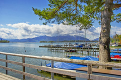 Chiemsee (Anna M.J.) Tags: chiemsee germany bavaria lake fraueninsel bayerischesmeer ausflug spring springtime segel boot water wasser blau blume yacht mooring rest travel reise химзее весна озеро яхта причал tree