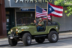 American & Puerto Rican Flags (thoth1618) Tags: bk ny nyc brooklyn clintonhill newyork newyorkcity army jeep flag flags americanflag american puertorican puertoricanflag