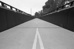 Infrastructure. (Karloskar) Tags: olympusom1 om1 ilford fp4 ilfordfp4125 cycling infrastructure