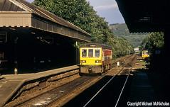 Summer Evening Railbusses (Michael McNicholas) (Neil Harvey 156) Tags: railway 141114 142077 hebdenbridgestation hebdenbridge caldervalley class141 metrotrain westyorkshirepte dmu multipleunit class142 pacer michaelmcnicholas