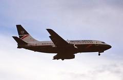 G-BGDH B737-200 British airways LHR 19-06-93 (cvtperson) Tags: gbgdh boeing 737200 british airways london heathrow lhr egll