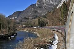 TGV Lille - St Gervais le long de l'Arve (Alexoum) Tags: sncf tgv stgervais hautesavoie alpes arve montblanc montagne railway electric