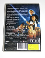 star wars episode VI return of the jedi limited edition 2 dvd set region 4 b (tjparkside) Tags: star wars return jedi 2 disc dvd limited edition original theatrical release australia rotj ep episode vi six 6 luke skywalker lightsaber han solo blaster ewok wicket jabba hutt princess leia organa jabbas slave palace death bib fortuna gamorrean guard guards tatooine endor moon region 4 set