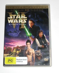 star wars episode VI return of the jedi limited edition 2 dvd set region 4 a (tjparkside) Tags: star wars return jedi 2 disc dvd limited edition original theatrical release australia rotj ep episode vi six 6 luke skywalker lightsaber han solo blaster ewok wicket jabba hutt princess leia organa jabbas slave palace death bib fortuna gamorrean guard guards tatooine endor moon region 4 set