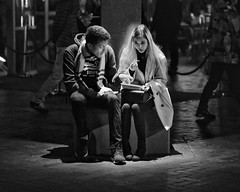 relationships (gro57074@bigpond.net.au) Tags: relationships candid circularquay sydney f28 70200mmf28 nikkor d850 nikon june2019 shadow light manandwoman couple people guyclift bw monochromatic monotone mono blackwhite street streetphotography