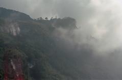 Avant nous, (zebilibouba) Tags: pentaxmekodakportra400 cloud myst sri lanka adams peak dawn analog burnt
