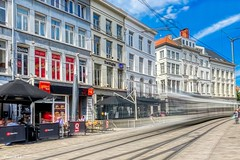 Ghost Tramway - 6897 (✵ΨᗩSᗰIᘉᗴ HᗴᘉS✵62 000 000 THXS) Tags: gand gent tram tramway mouvement moving belgium europa aaa namuroise look photo friends be yasminehens interest eu fr party greatphotographers lanamuroise flickering iphone