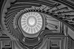 Staircase Cyborg (zuni48) Tags: architecture blackandwhite spiral spiralstaircase dome pattern waltersartmuseum hackermanhouse tokina1116mm wideanglelens